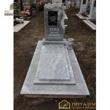 Памятник из мрамора - Крест-вуаль   PM0007 — ritualum.ru